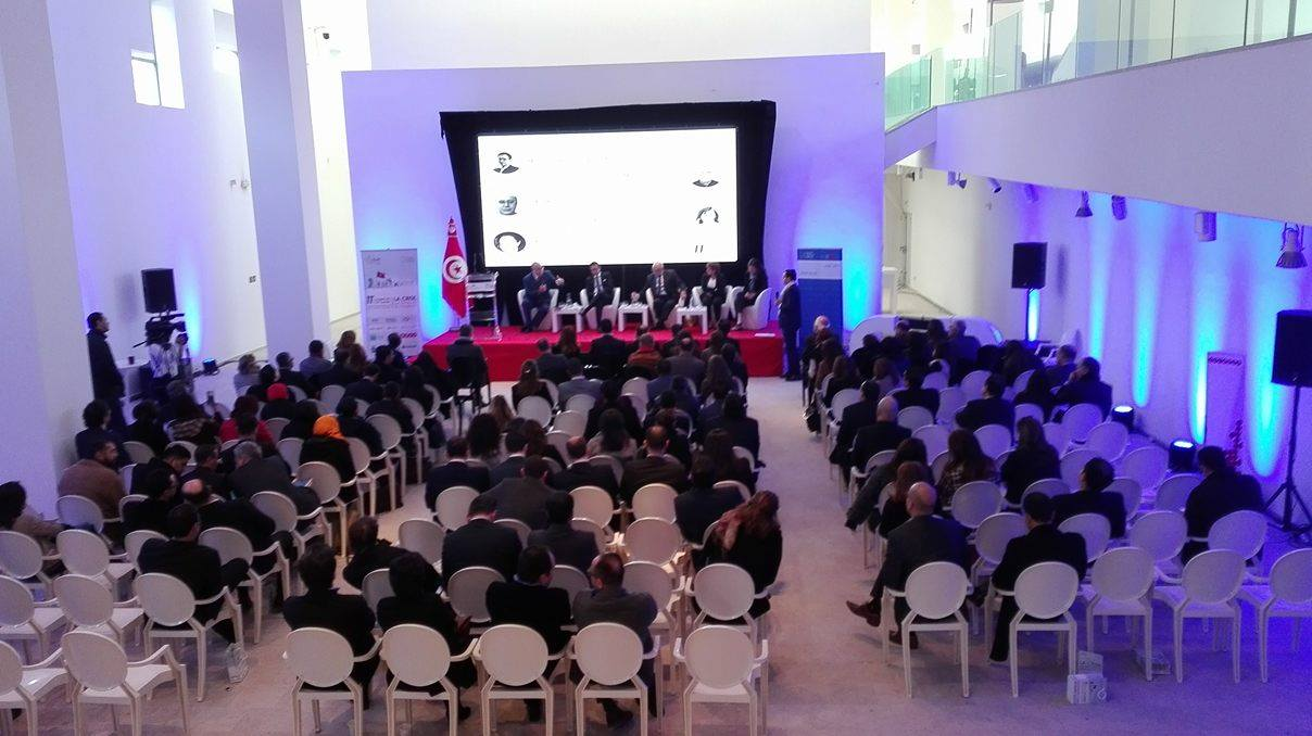 La conférence du CJD s'est déroulée au Musée du Bardo.